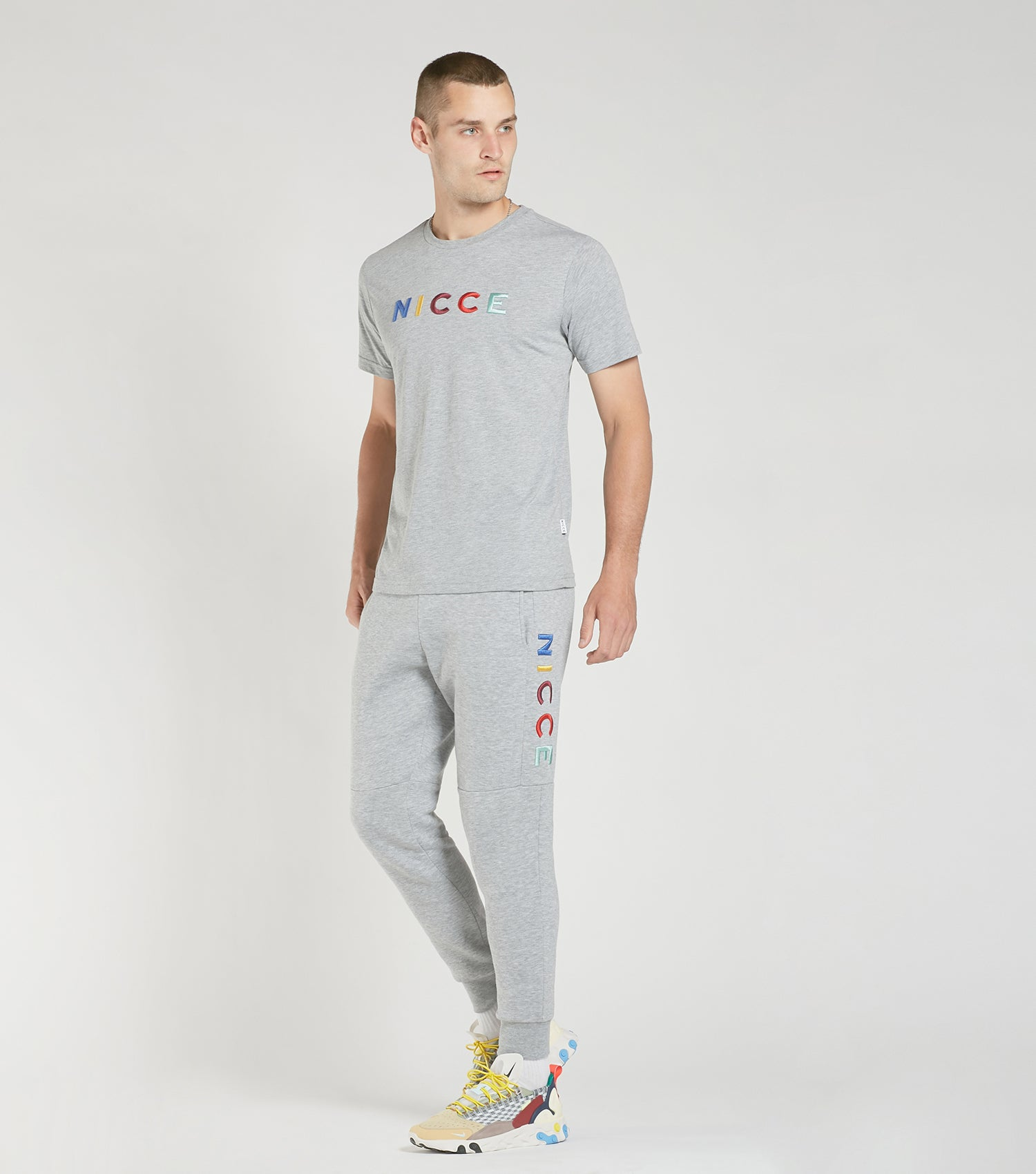 NICCE Mens Dallas T-Shirt | Light Grey Marl, T-Shirts