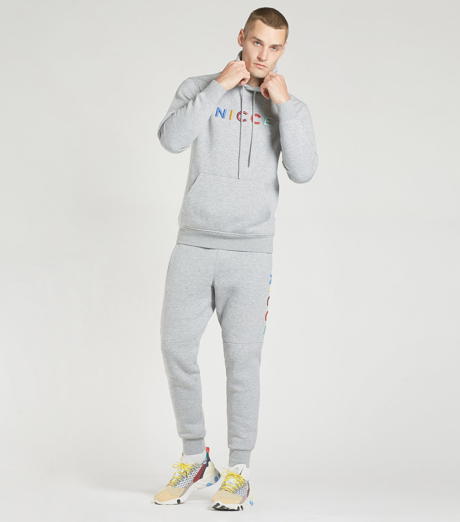 NICCE Mens Dallas Set | Light Grey Marl