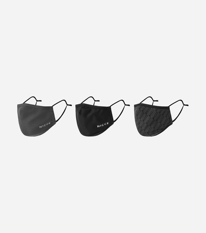 NICCE HORIZON FACE MASK 3 X PACK | BLACK
