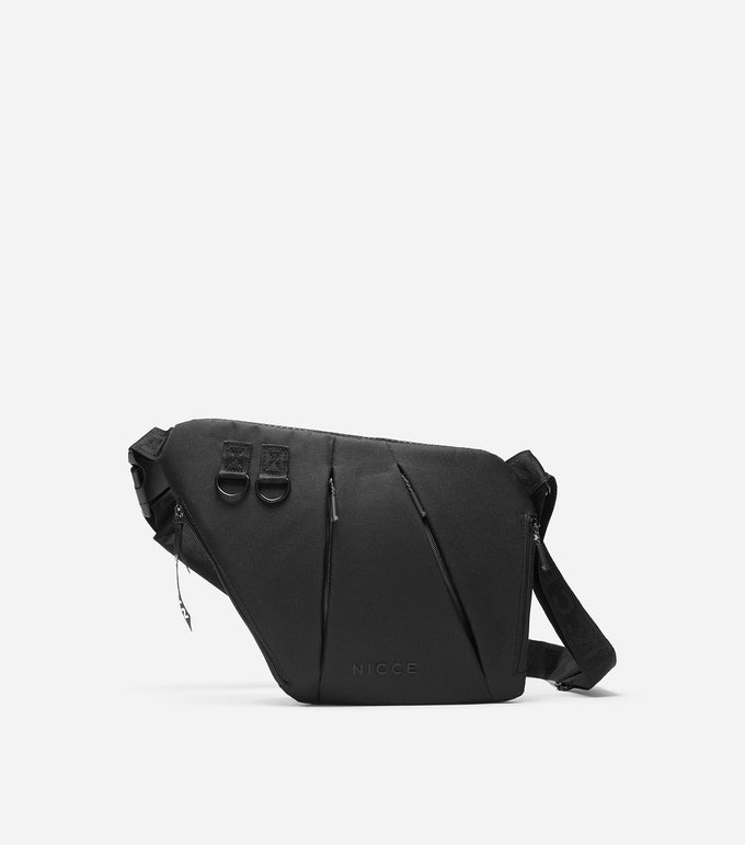 Designed for practicality and style this black bum bag featuring a multiple zip pockets and one main zip through pocket, branded cross body adjustable strap and NICCE branded zip pulls.