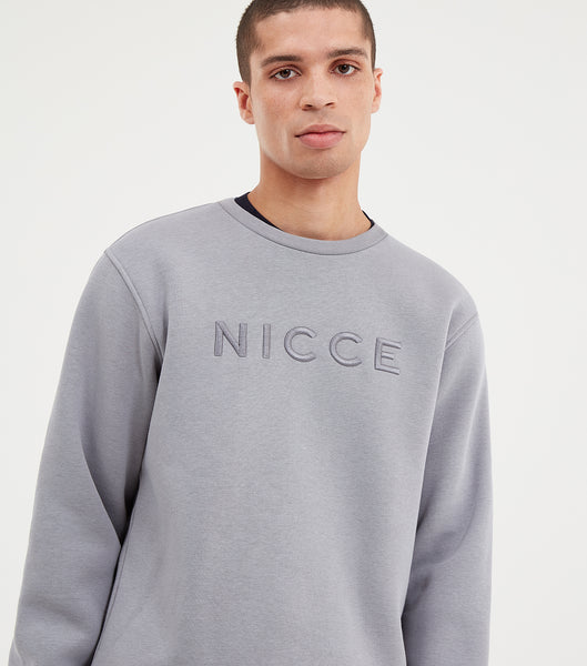 Mercury sweatshirt in grey. Features raised embroidered tonal chest logo, classic fit, sweat fabric, elasticated cuffs and waistband. Pair with joggers.