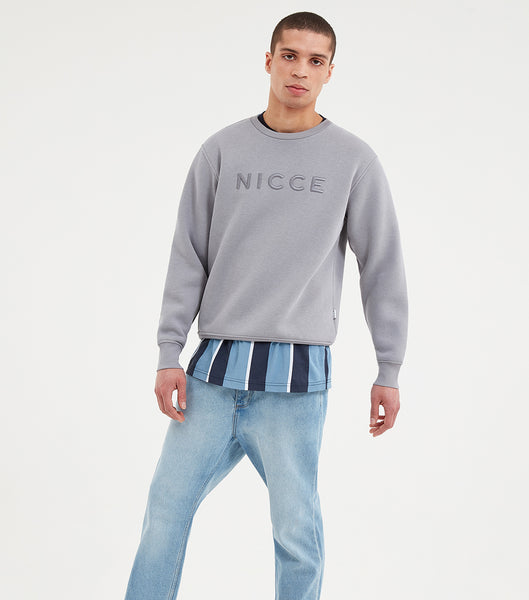 NICCE Mens Mercury Sweat | Drizzle Grey, Sweatshirts