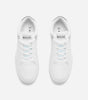 Kendrick trainer in white. Featuring lace-up fastening, padded for comfort, NICCE logo, chunky sole, moulded tread, wipe to clean, designed for a low maintenance lifestyle, faux leather upper, looks real but it's not.