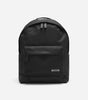 Core backpack in black. Featuring interior laptop sleeve, contrast branded rubber patch, tonal rubber zip pullers, storm flap covered front pocket, branded NICCE grgrain, padded base and panels.