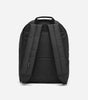 Core backpack in black. Featuring interior laptop sleeve, contrast branded rubber patch, tonal rubber zip pullers, storm flap covered front pocket, branded NICCE cross grain, padded base and panels.