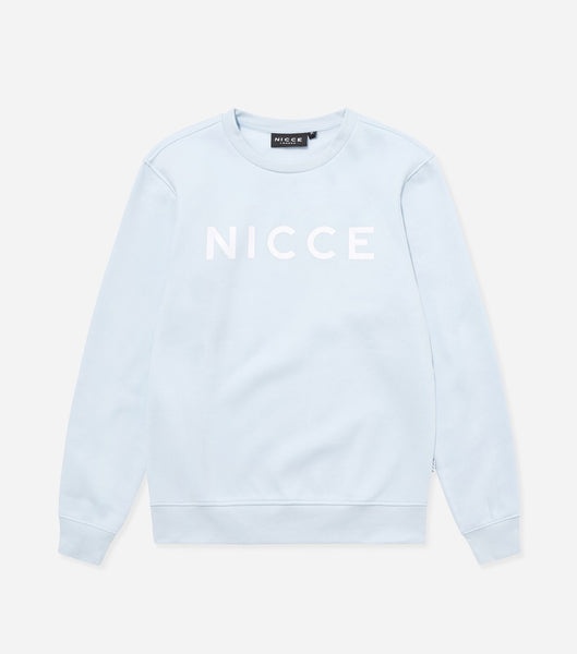 This cool blue sweatshirt is made from soft cotton mix featuring the NICCE logo on the front. A casual fit, it has round neckline and long sleeves, a great layering piece, essential for every wardrobe.