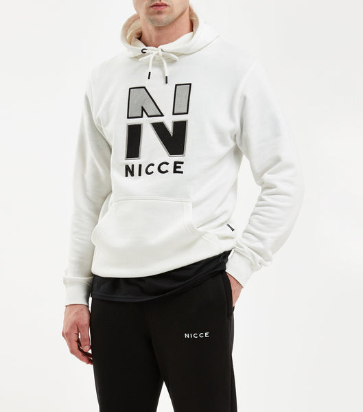 Campus hood in off white. Features flat lock detailing, large felt and new 'N' embroidered chest logo, hood with drawstrings, elasticated cuffs and waistband. Pair with joggers.