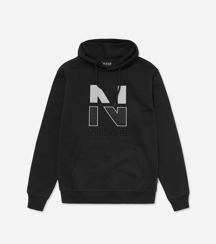 Split N logo hood in black. Features flat lock detailing, large felt and new 'N' embroidered chest logo, hood with drawstrings, elasticated cuffs and waistband. Pair with joggers.