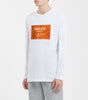 MMXIII t-shirt in white. Features crew neck, orange box front chest branding in flock. Pair with joggers