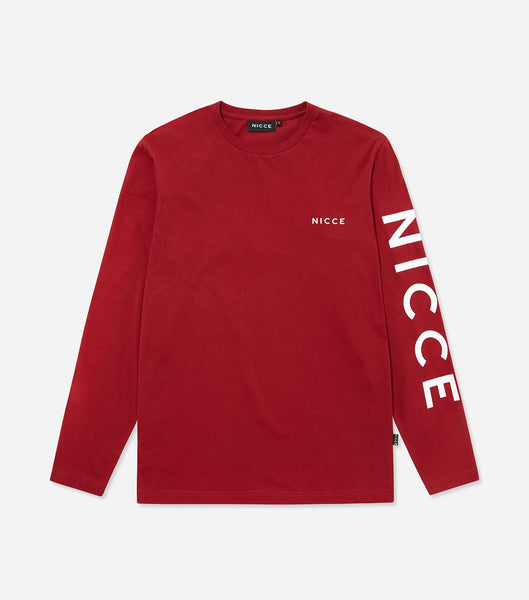 NICCE RUNA LONG SLEEVE T-SHIRT | RED