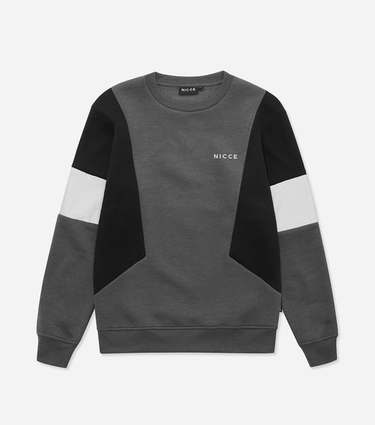 Union sweat. Features crew neck, three colour pannelled body with reflective material, chest branding, elasticated waistband and cuffs. Pair with joggers.