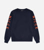 Radium sweatshirt in deep navy. Features crew neck, long sleeves, with embroidered nicce logo's on both sleeves. Pair with joggers