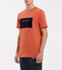 MMXIII t-shirt in burnt orange. Features crew neck, short sleeves, flock box front chest branding. Pair with MMXIII hood.