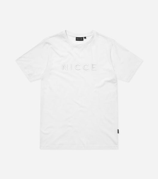 Mercury t-shirt in white. Featuring crew neck, short sleeves with raised embroidered branding.