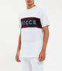 NICCE chest logo short sleeve t-shirt in white. Features crew neck, contrasting stripe, short sleeves and NICCE chest logo. Pair with joggers