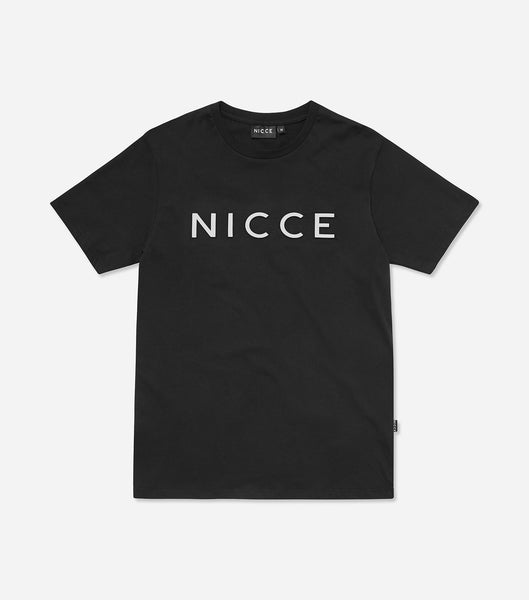NICCE chest logo short sleeve t-shirt in black. Features crew neck, short sleeves and reflective NICCE chest logo. Pair with joggers