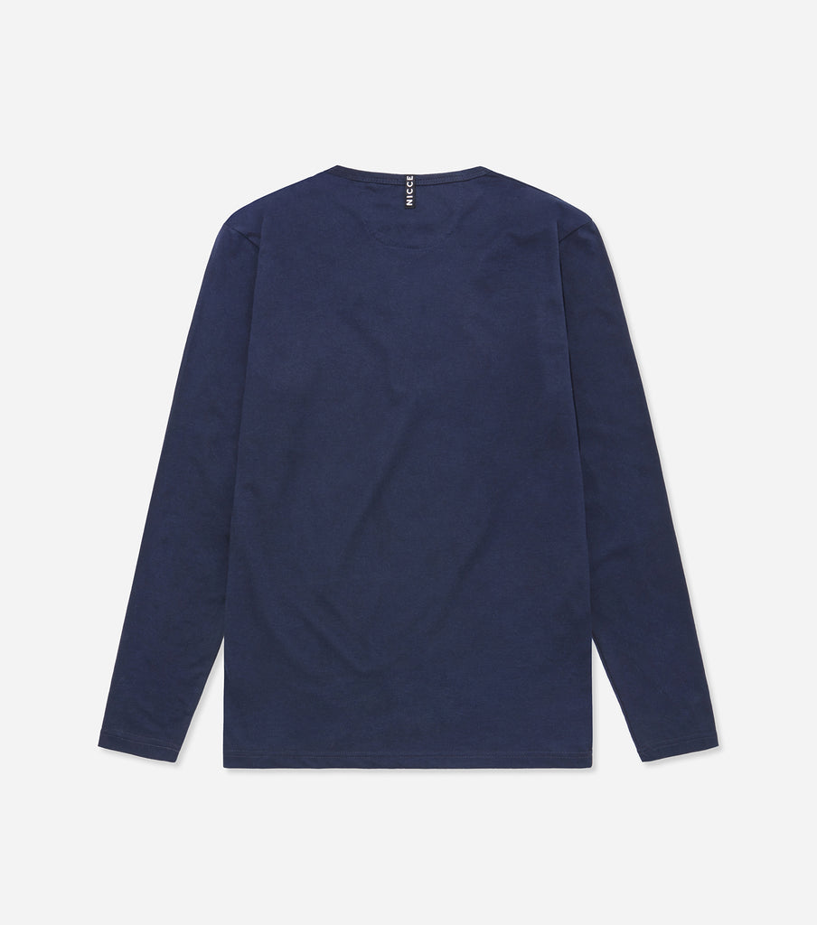 NICCE LOUNGEWEAR  LONG SLEEVE T-SHIRT | NAVY
