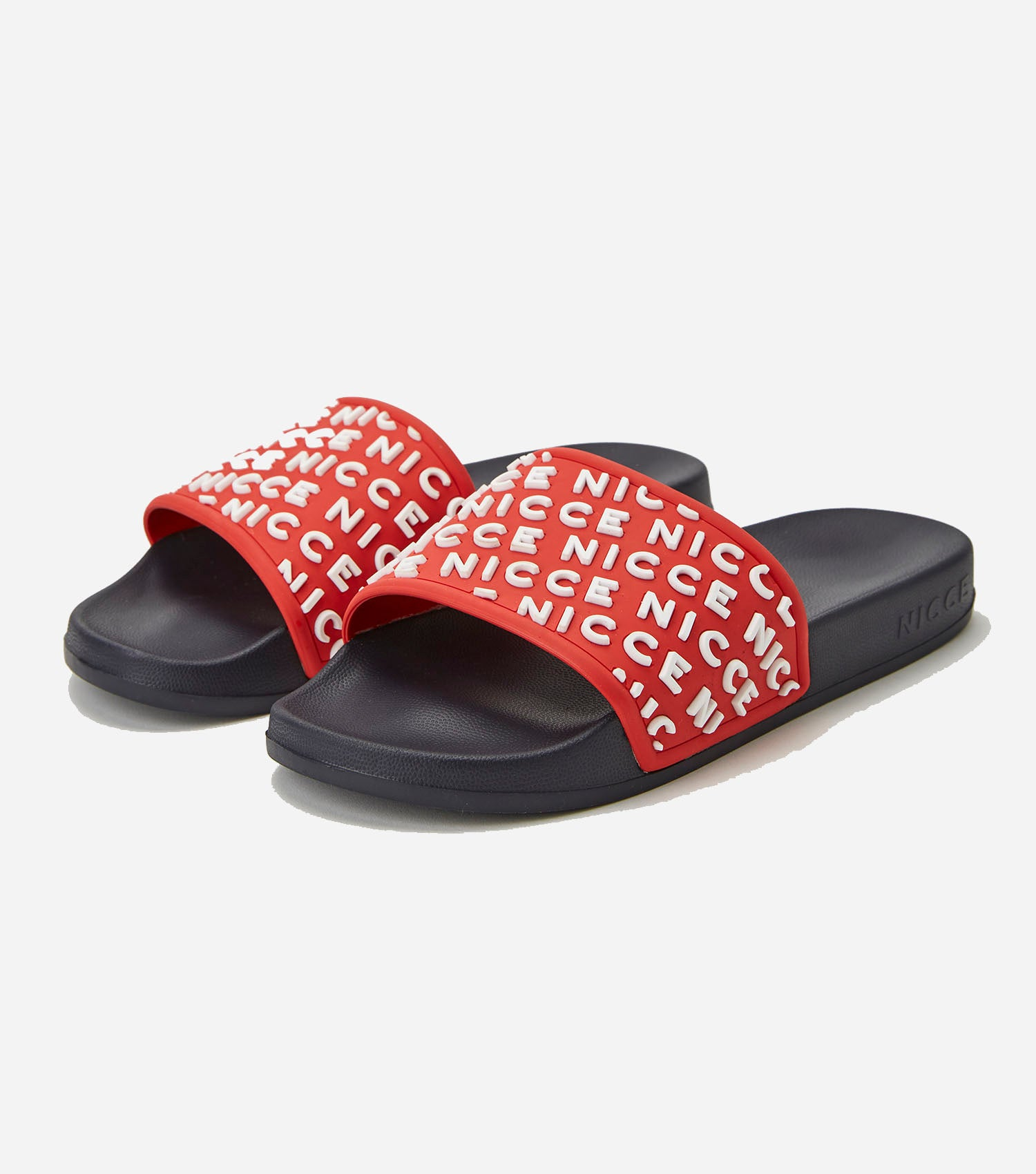 NICCE Mens Nativo Slides | Red / Navy, Footwear