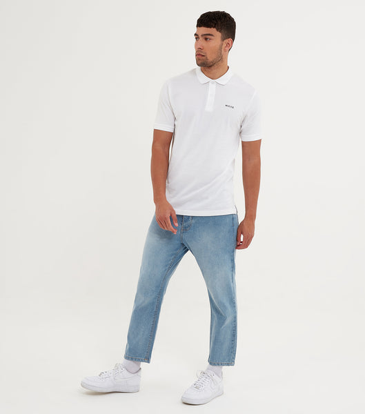 NICCE Mens Core Polo Shirt | White, Shirts