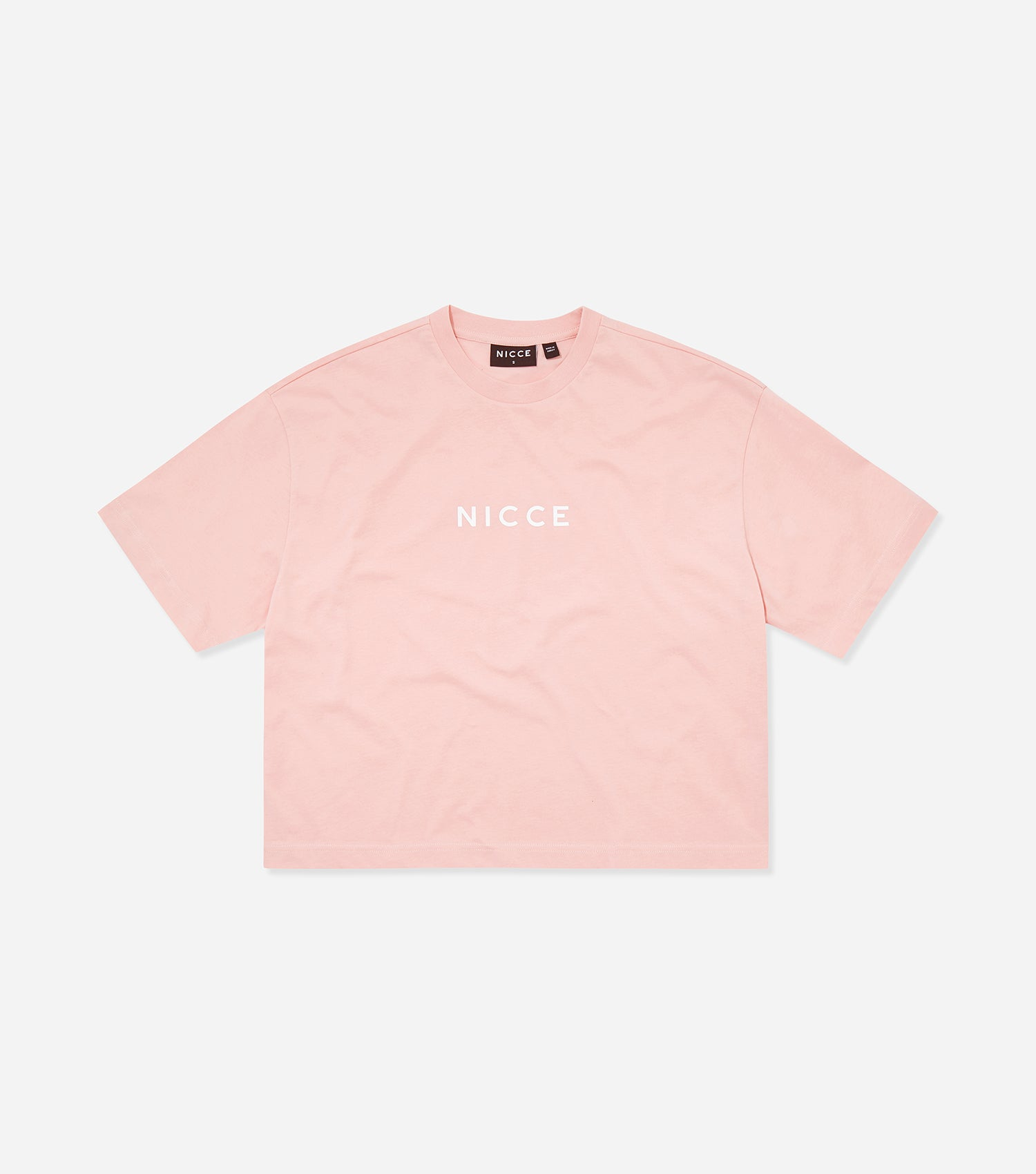 NICCE Womens Centre Logo Cropped Tee | Coral Blush, T-Shirts