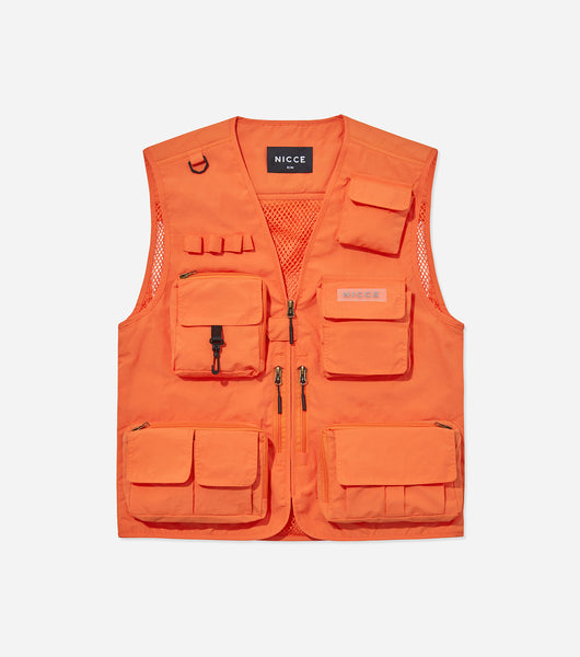 NICCE Mens Festival Vest | Orange, Outerwear