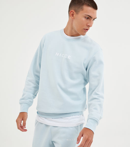 NICCE Mens Original Centre Logo Sweat | Blue, Sweatshirts