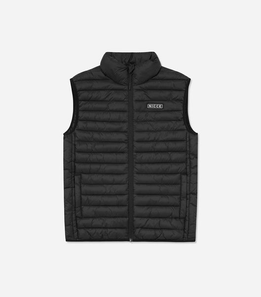 NICCE Mens Maidan Gilet | Black, Outerwear
