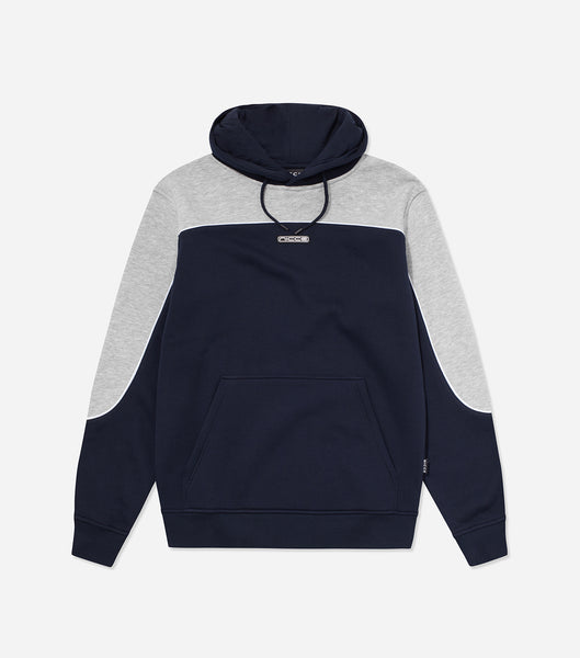 NICCE Mens Ark Hood | Light Grey Marl/ Deep Navy