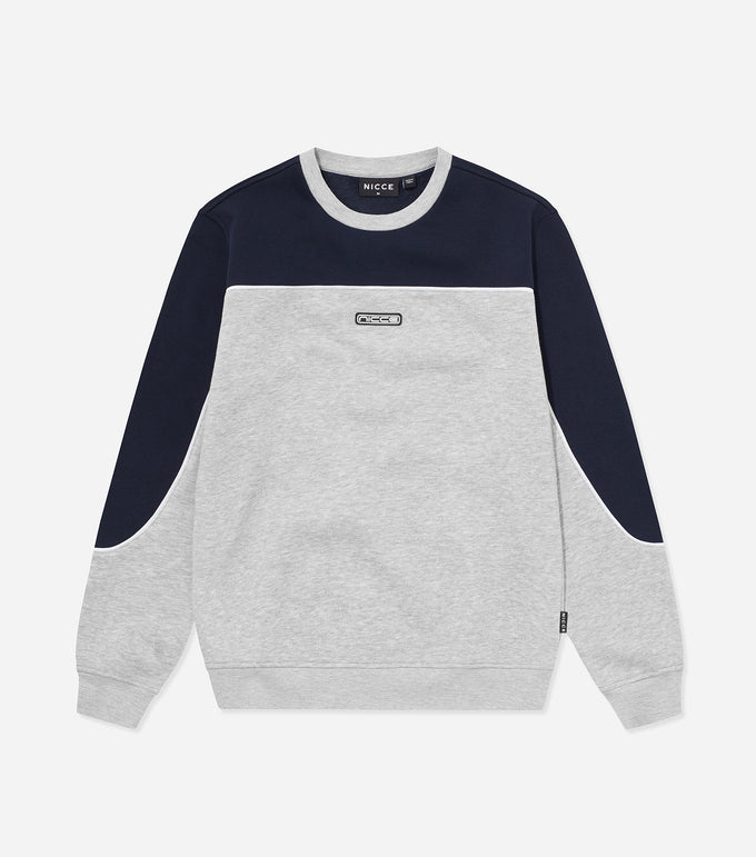 NICCE Mens Ark Sweat | Deep Navy/ Light Grey Marl, Sweat