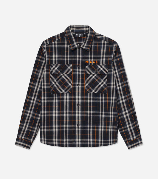 NICCE Mens Flannel Shirt | Deep Navy