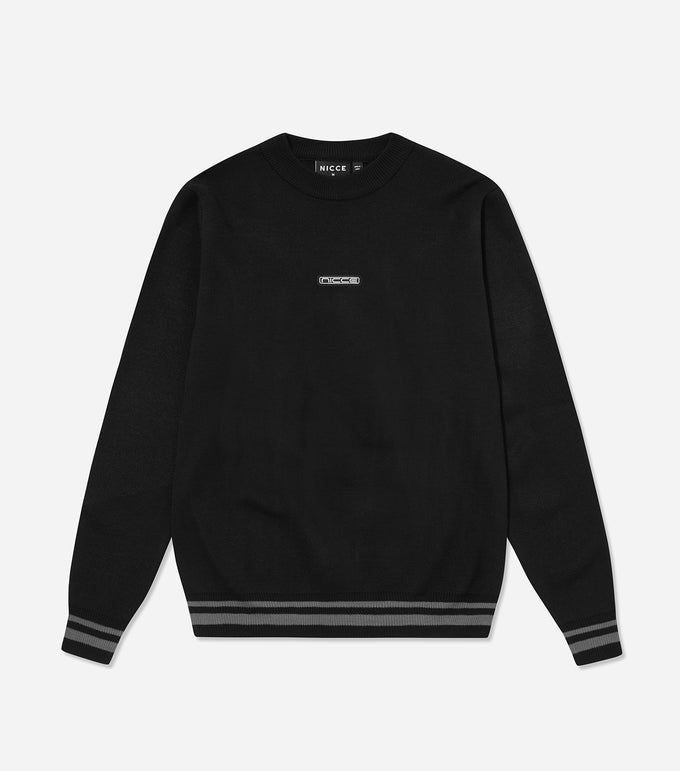NICCE Mens Rimm Knit | Black, Tops