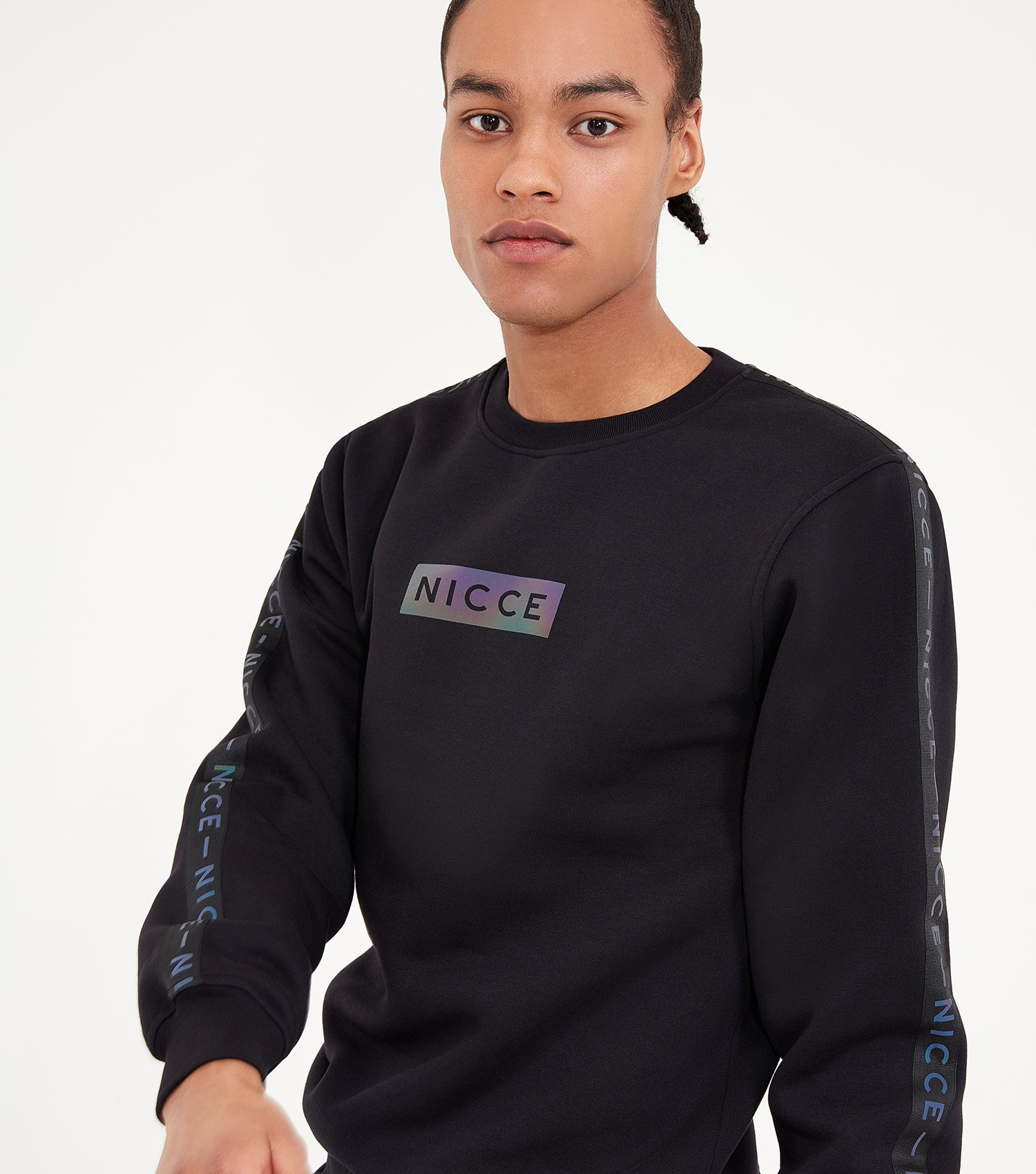NICCE Mens Trivo Sweat Track Top | Black, Sweatshirts