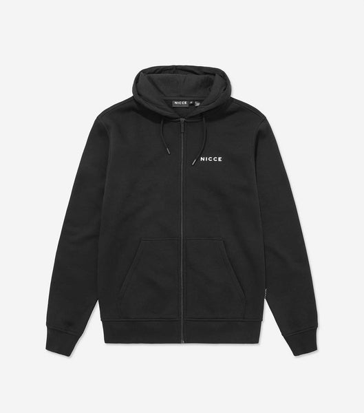 NICCE Mens Zip Thru Hood | Black, Hoodies