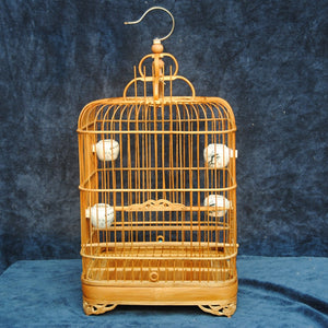 Decorative Square Bamboo Cage-FREE Shipping In USA