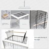 Transparent Front & Rear Bird Cage-FREE Shipping In USA!