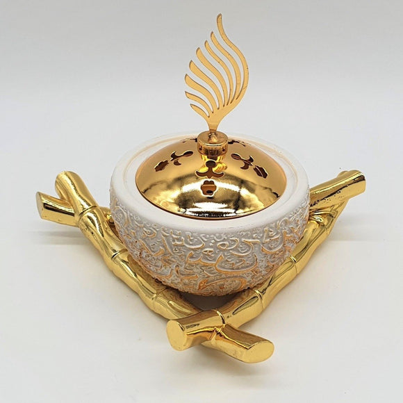 Triangle Shaped Bukhour Burner - almanaar Islamic Store
