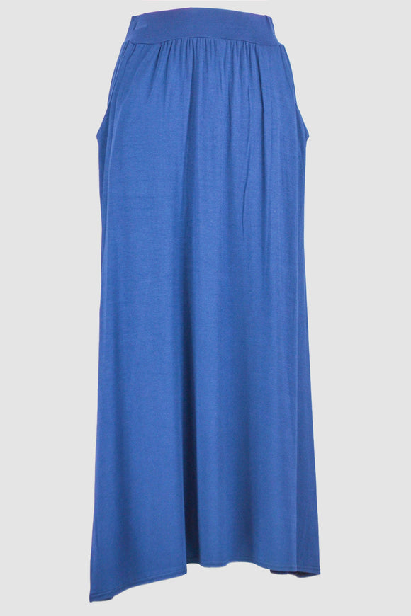 Blue Jersey Skirt With Pockets - almanaar Islamic Store