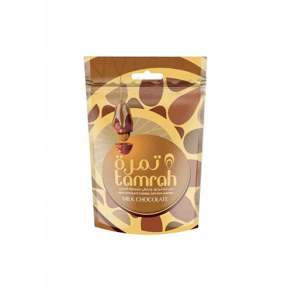 Milk Chocolate Almond Tamrah Dates 80g - almanaar Islamic Store