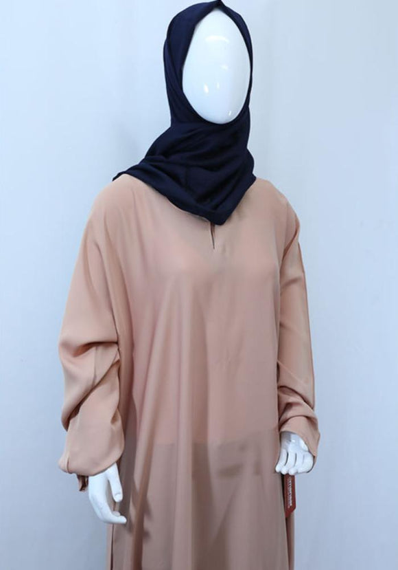 Plain Korean Nida Abaya with one pocket. - almanaar Islamic Store