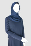 Girls  Jersey Abaya Navy