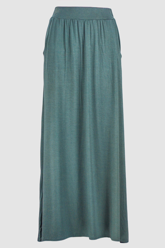 Grey Jersey Skirt With Pockets - almanaar Islamic Store