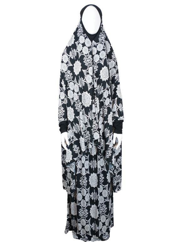 Abstract Lily Two Piece Prayer Dress - almanaar Islamic Store