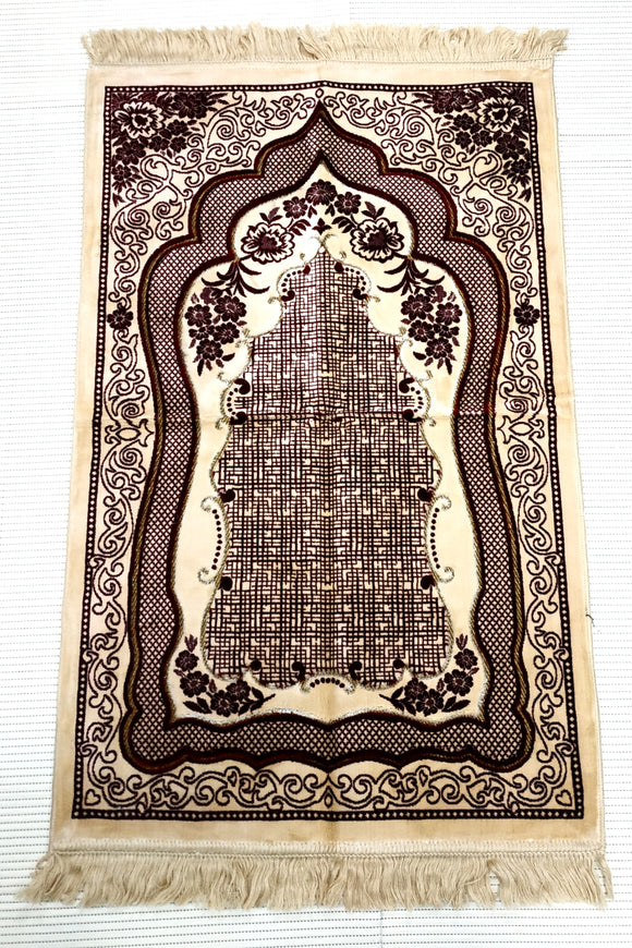 Extremely soft Turkish  Islamic Prayer Mat Janamaz  Musalla Soft High Quality