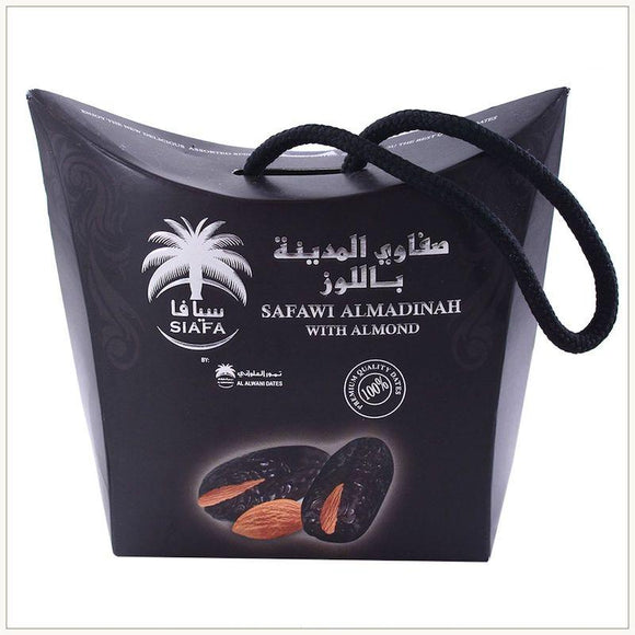 Premium Qualty Safawi Dates Al Madinah With Almond 115g - almanaar Islamic Store