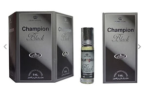 Champion Black Perfume Oil 6ml X 6 By Al Rehab - almanaar Islamic Store
