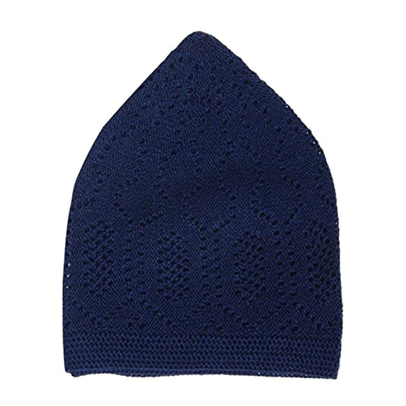 Mercan Prayer Hat Kufi One Size Navy - almanaar Islamic Store