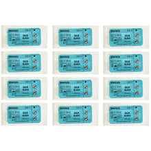 Load image into Gallery viewer, Suturing Doctor™ 2-0 SILK BLACK 36mm Needle Training Sutures - 12 Pack