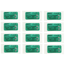 Load image into Gallery viewer, Suturing Doctor™ 3-0 POLYESTER BRAIDED GREEN Training Sutures - 12 Pack