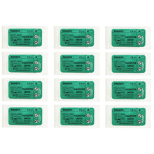 Load image into Gallery viewer, Suturing Doctor™ 4-0 POLYESTER BRAIDED GREEN Training Sutures - 12 Pack
