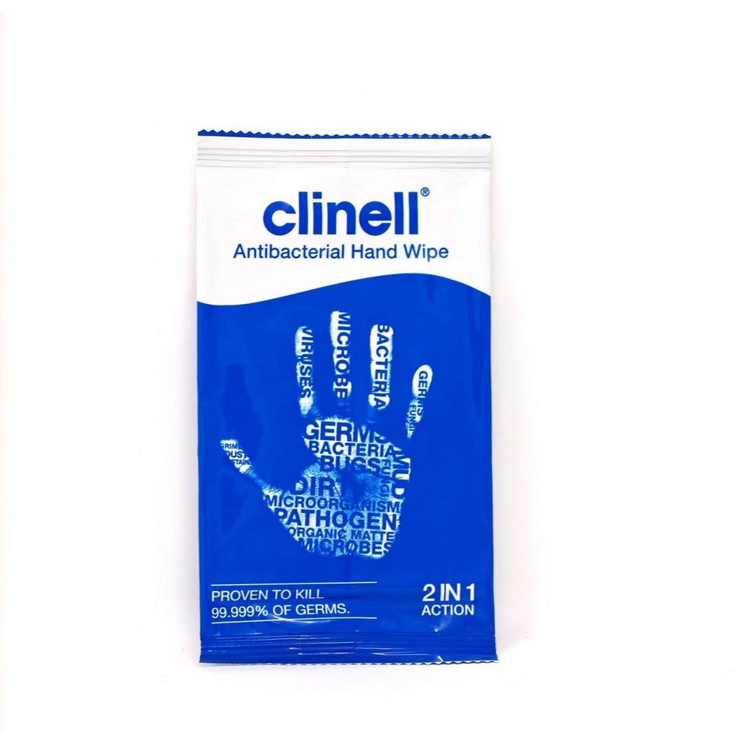 Clinell® Anti-Bacterial Hand Wipes [100 pack]
